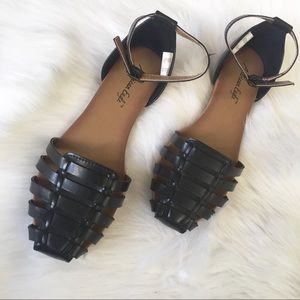 Cute Black Sandals with ankle strap